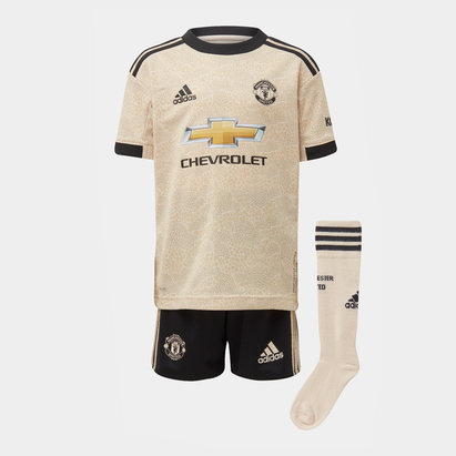 adidas Manchester United 19/20 Away Mini Kids Football Kit