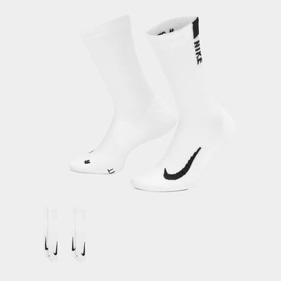 Nike Multiplier Crew Running Socks 2 Pack Unisex Adults