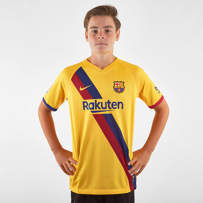 Nike FC Barcelona 19/20 Kids Away S/S Football Shirt