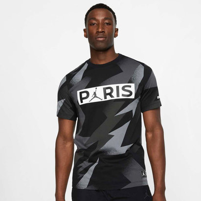 Nike Paris Saint Germain x Jordan Tag T Shirt Mens