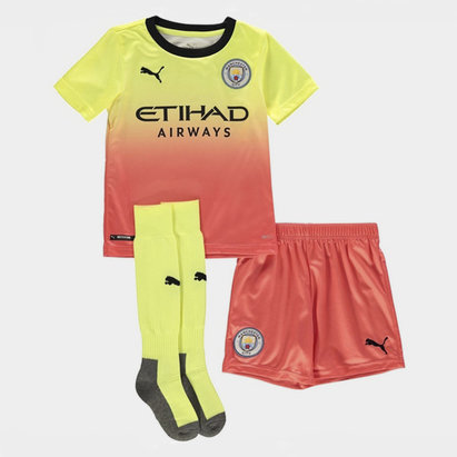 Puma Manchester City 19/20 3rd Mini Kids Football Kit