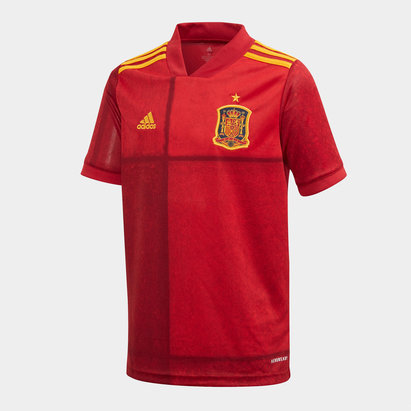 adidas Spain 2020 Home Kids Replica Football Shirt