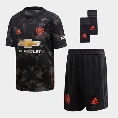 adidas Manchester United 19/20 3rd Mini Kids Football Kit