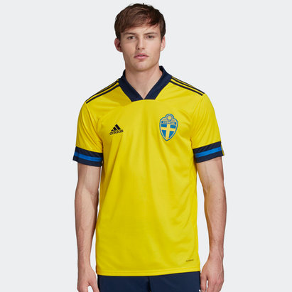 adidas Sweden 2020 Home Replica Football Shirt
