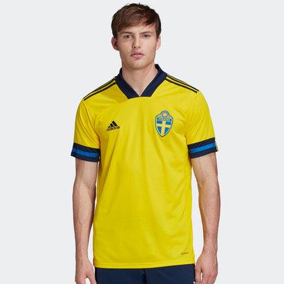 adidas Sweden 2020 Home Replica Football Shirt