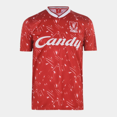 Team Liverpool 1989 1990 Home Shirt Mens