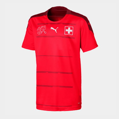 Puma Switzerland 2020 Kids Home Football Shirt