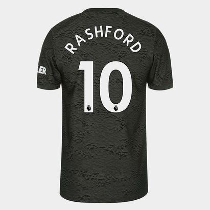 adidas Manchester United Marcus Rashford Away Shirt 20/21 Mens