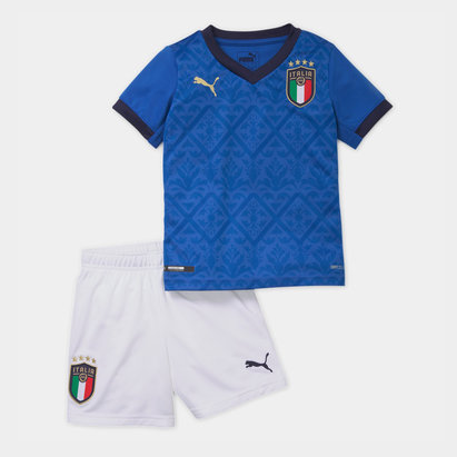 Puma Italy 2020 Home Mini Kids Football Kit