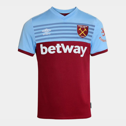 Umbro West Ham United 19/20 Home S/S Football Shirt