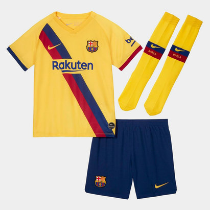 Nike FC Barcelona 19/20 Away Mini Kids Football Kit