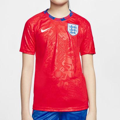 Nike England 2020 Kids Pre Match Football Shirt
