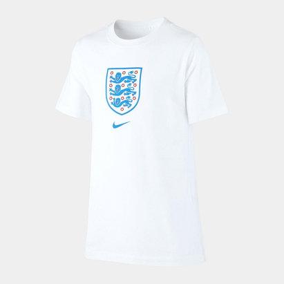 Nike England Crest T Shirt 2020 Junior