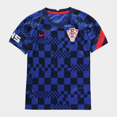 Nike Croatia 2020 Kids Pre Match Football T-Shirt