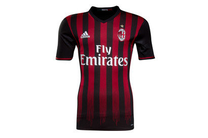 AC Milan 1617 Authentic Home SS Football Shirt
