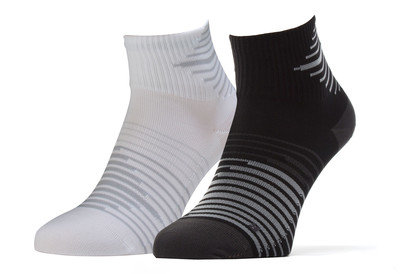 Nike 2 Pack Dri-FIT Lightweight Quarter Training Socks