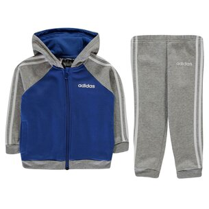 adidas 3 Stripe Full Zip Tracksuit Baby Boys
