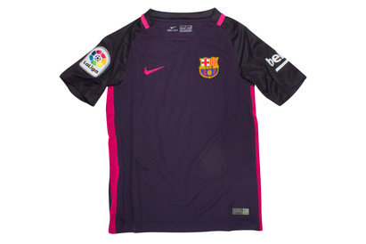 Nike FC Barcelona 16/17 Away Kids Replica S/S Football Shirt