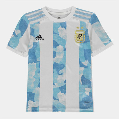adidas Argentina 2020 Kids Home Football Shirt