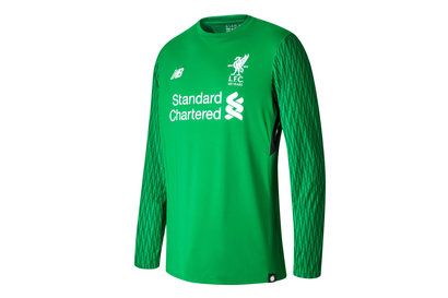 New Balance Liverpool FC 17/18 Kids Goalkeeper Home L/S Football Shirt