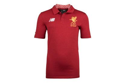 New Balance Liverpool FC 17/18 Kids Elite Media Football Polo Shirt