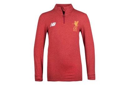 a22d932e2e2 New Balance Liverpool Quarter Zip Kids 2017 18 Red Training Top Image
