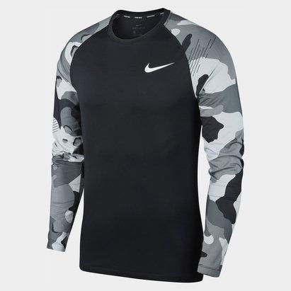 Nike Pro Camo Long Sleeve T-Shirt Mens