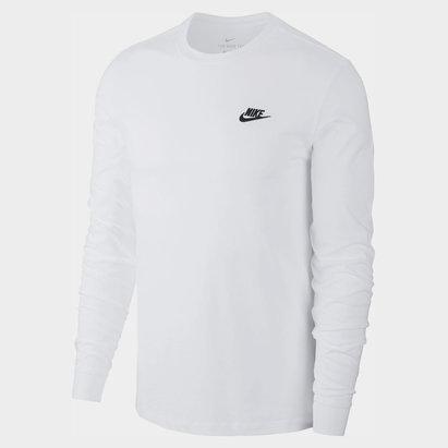 Nike Long Sleeve Club T Shirt Mens