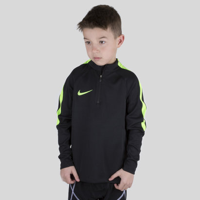 Nike Squad 1/4 Zip Kids L/S Midlayer Football Training Top