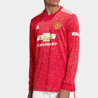 adidas Manchester United Home Long Sleeve Shirt 20/21 Mens