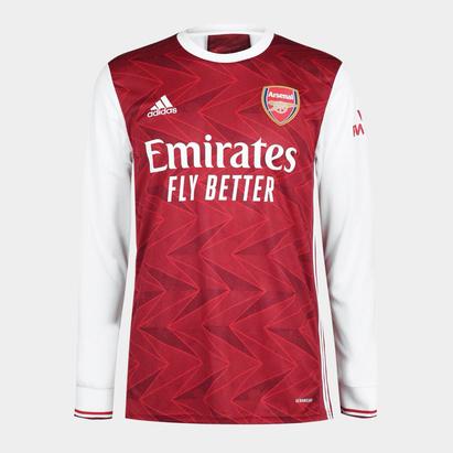 adidas Arsenal Home Long Sleeve Shirt 20/21 Mens