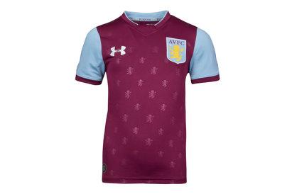 Aston Villa 17/18 Home Kids S/S Football Shirt