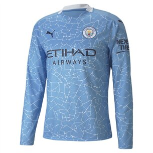 Puma Manchester City Home Long Sleeve Shirt 20/21 Mens