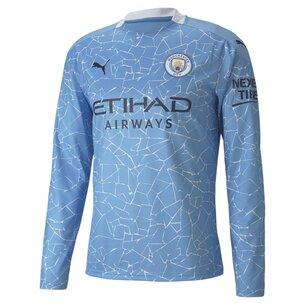 Puma Manchester City Home Long Sleeve Shirt 20/21 Mens
