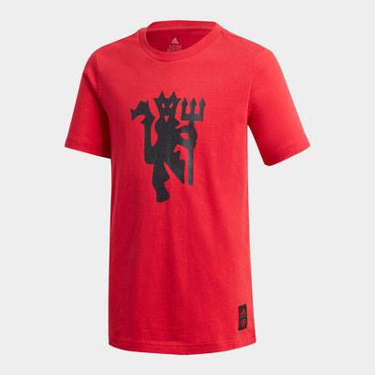 adidas Manchester United DNA T Shirt 20/21 Kids