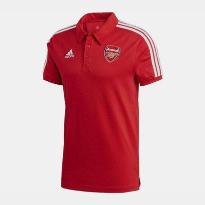 adidas Arsenal Three Stripe Polo Shirt 20/21 Mens