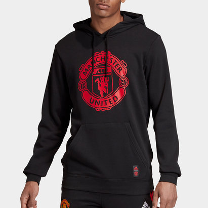 adidas Manchester United Hoodie 2020 2021 Mens