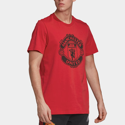 adidas Manchester United DNA T Shirt 20/21 Mens