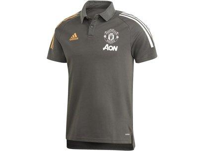 adidas Manchester United Polo Shirt 20/21 Mens