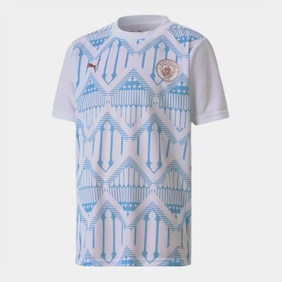 Puma Manchester City Pre Match Shirt 20/21 Kids