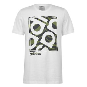 adidas Linear Camo Box Mens T shirt