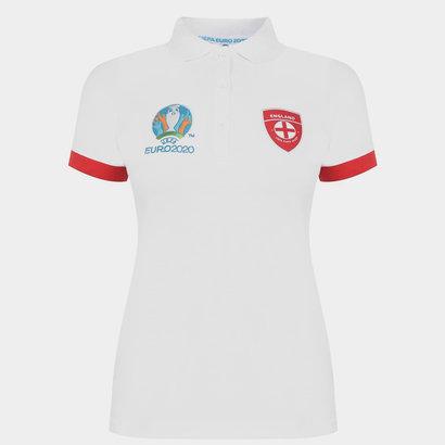 UEFA Euro 2020 England Polo Shirt Ladies