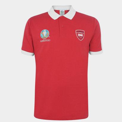 UEFA Euro 2020 Austria Polo Shirt Mens