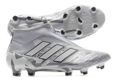 sale retailer 2bbae 72d35 adidas Ace 17+ PureControl Primeknit Camo Pack FG Kids Football Boots Grey  Image
