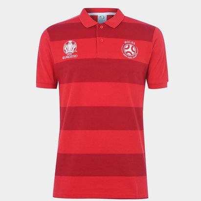 UEFA Euro 2020 Wales Stripe Polo Shirt