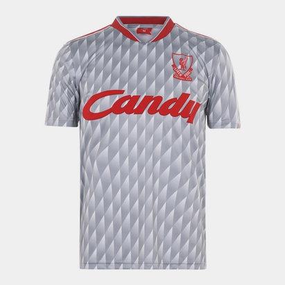 Team Liverpool 1989 1990 Away Shirt Mens