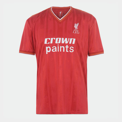 Team Liverpool 1985 1986 Home Shirt Mens