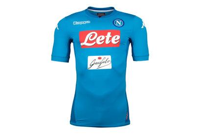 Kappa Napoli 17/18 Home S/S Players Match Football Shirt