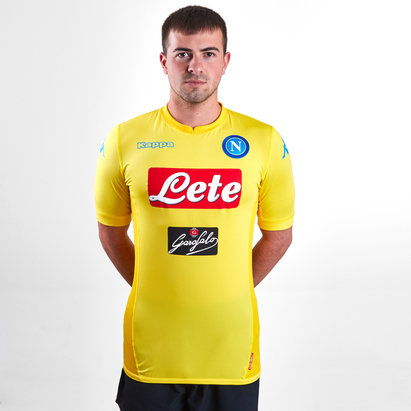 Kappa Napoli 17/18 Away S/S Players Match Football Shirt