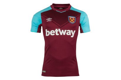 Umbro West Ham United 17/18 Home S/S Replica Football Shirt